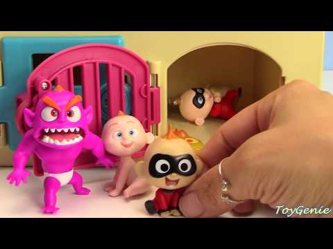 The Incredibles 2 Trapped Save Baby Jack Jack Learn Colors and Counting Best Learning Video