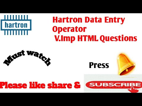 HARTRON DATA ENTRY EXAM QUESTIONS (HTML)