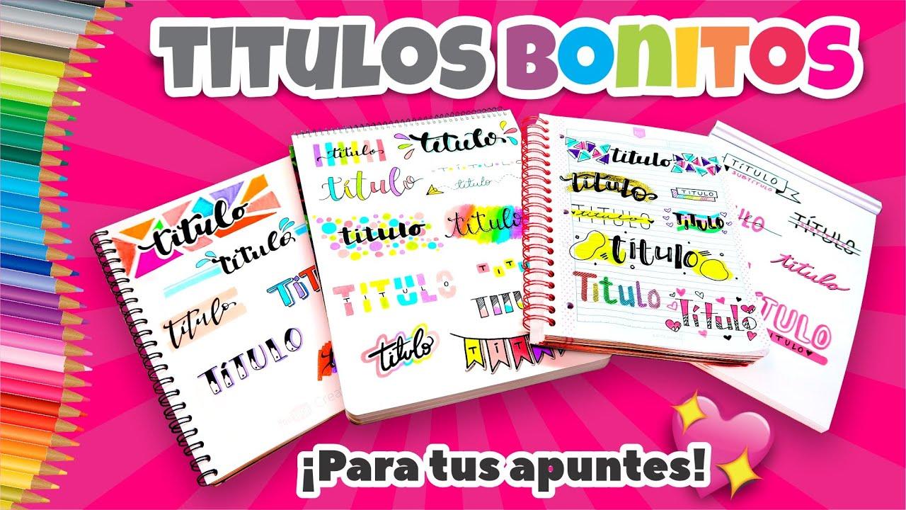 HAZ TITULOS BONITOS Y FACILES para tus APUNTES!! ⭐ Así o más fácil