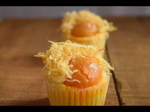 làm bánh cupcake trứng muối