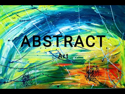 Abstract Painting By A Child Artist
