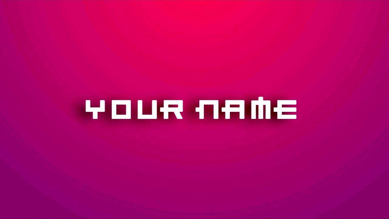 Sony Vegas Text Effect 2D Intro Template #11 Download - YouTube