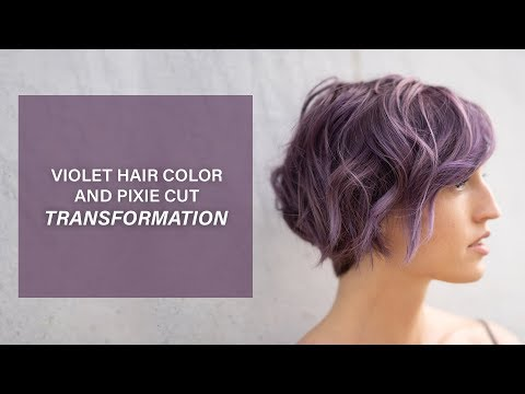 Violet Hair Color And Pixie Cut Transformation | Kenra Color