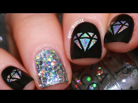 Holo Bling Diamond Nail Art