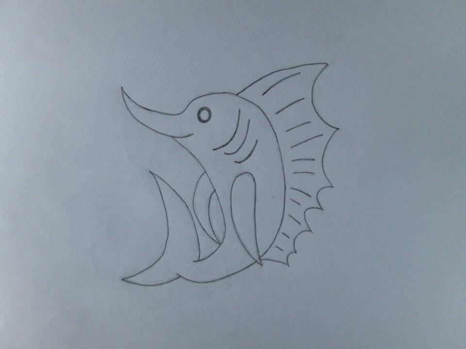 Cmo dibujar un pez espada  YouTube