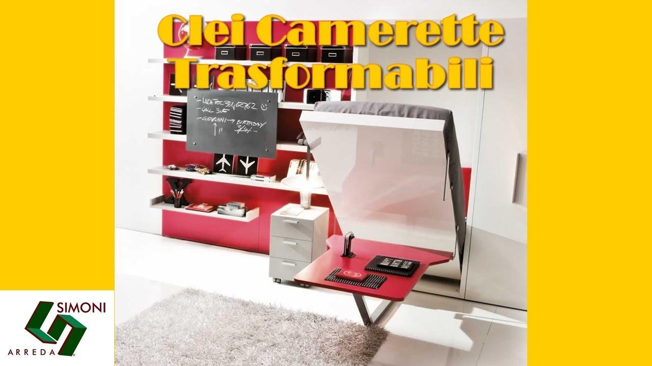 Clei camerette trasformabili by simoni arreda milano youtube for Simoni arreda milano
