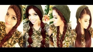 4 Cute Hairstyles For Beanies- Straight Hair Version