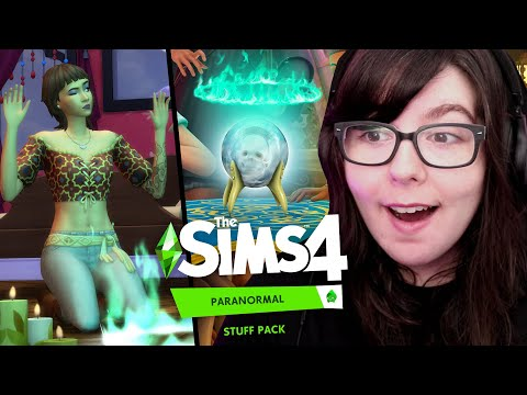 HOLD A SÉANCE WITH BONEHILDA // The Sims 4 Paranormal Stuff Pack Trailer Reaction |