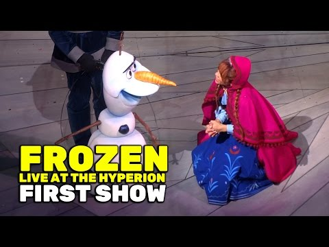 """""""Frozen - Live at the Hyperion"""" FULL first public performance at Disney California Adventure"""