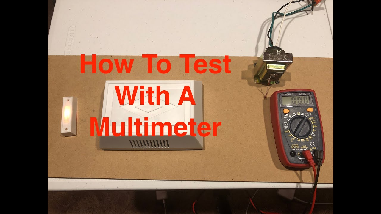 Test Doorbell Transformer With Multimeter