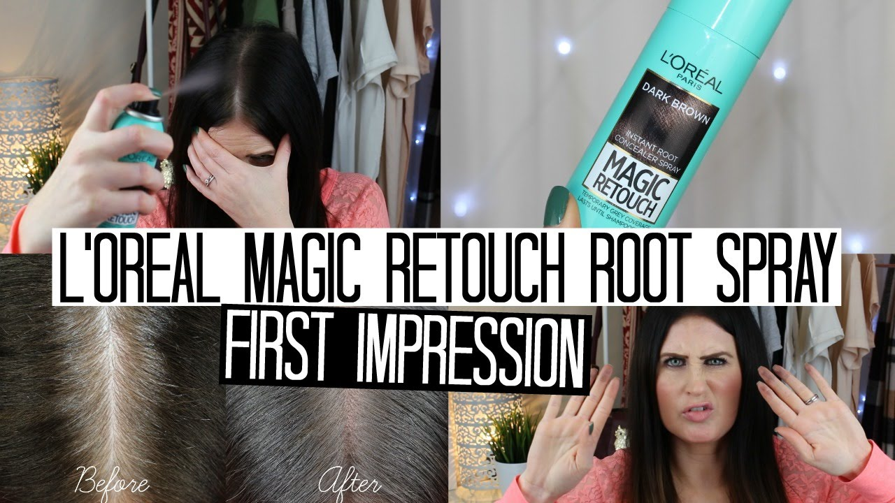 b9704b079 L'oreal Magic Retouch Root Spray | FIRST IMPRESSION - YouTube