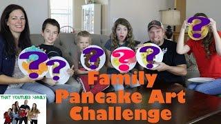 Family Pancake Art Challenge