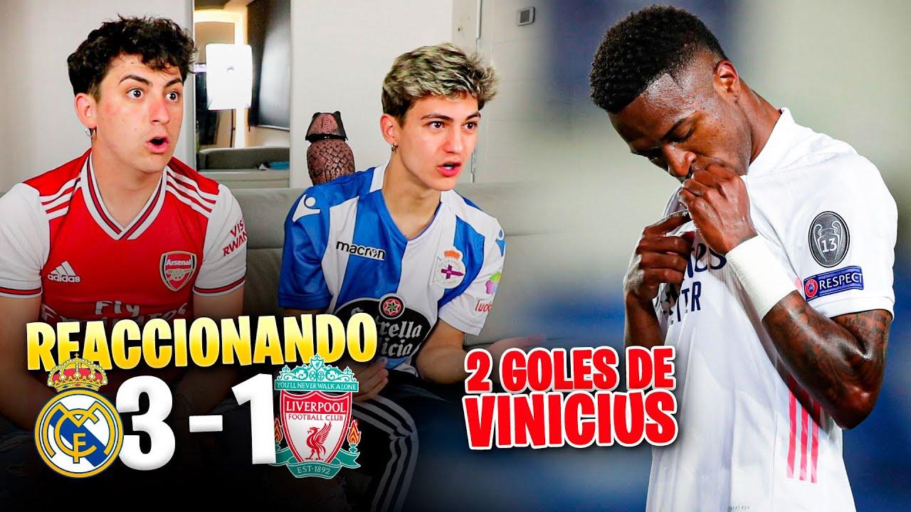 HINCHAS del BARÇA REACCIONAN al REAL MADRID 3 - 1 LIVERPOOL *  que malo es este equipo... *