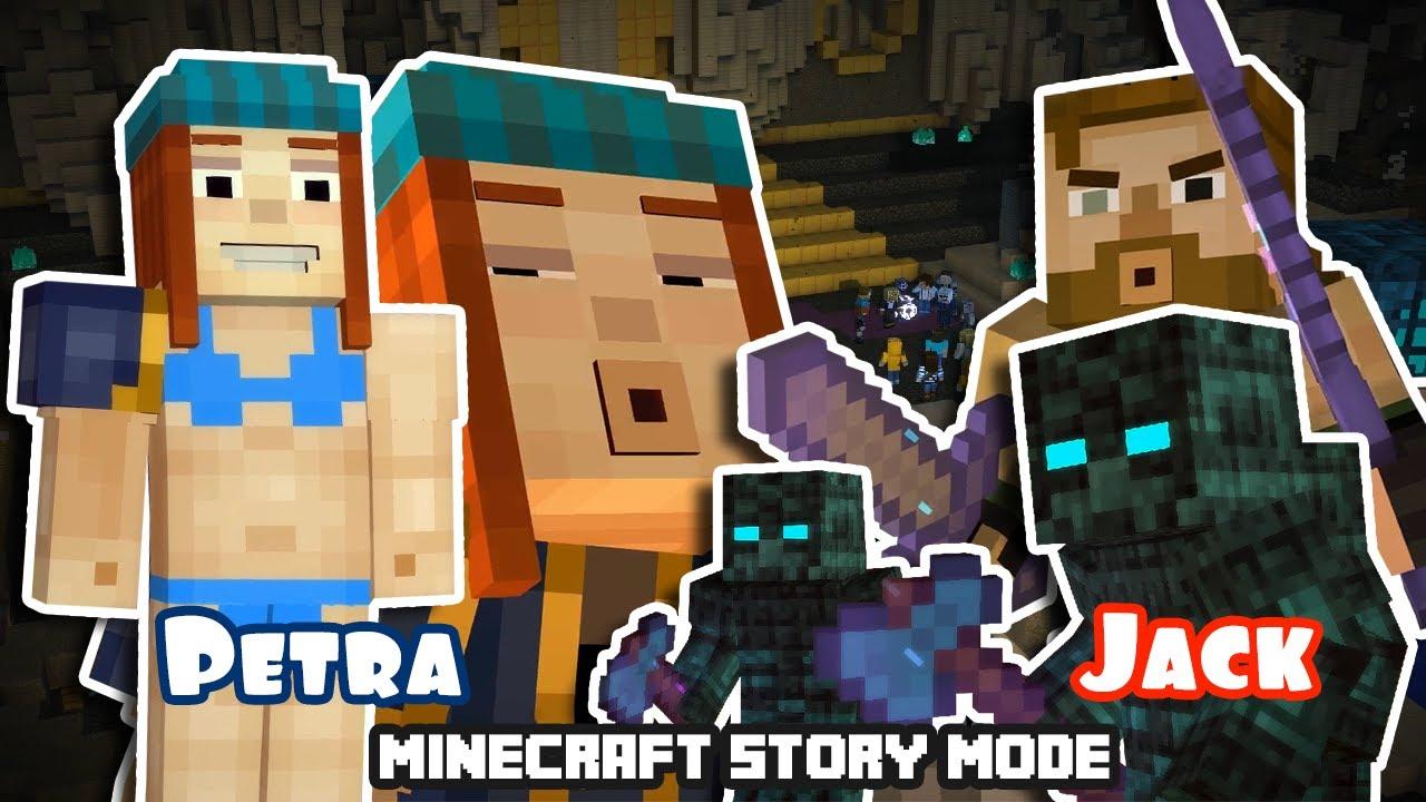 Breaking New Jetra Petra Vs Jack Fight Minecraft Story Mode Season 12 Mixed