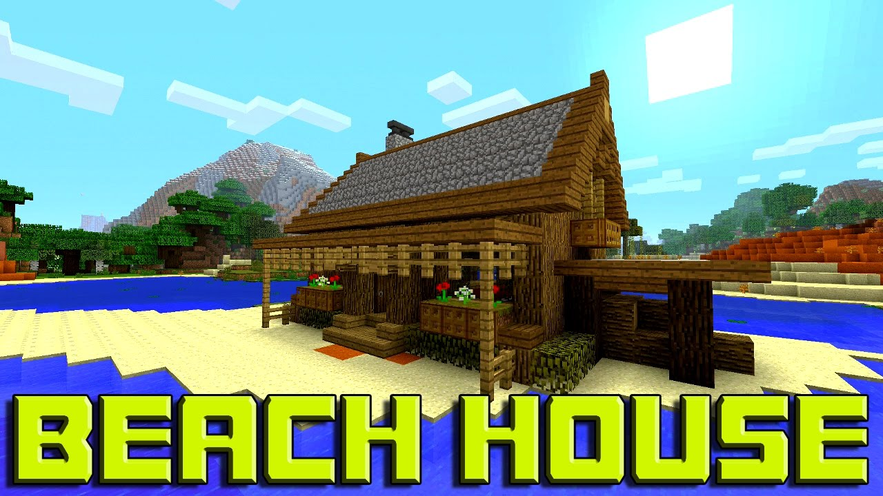 Minecraft: How To Build A BEACH House Tutorial (Simple & Easy Small ...