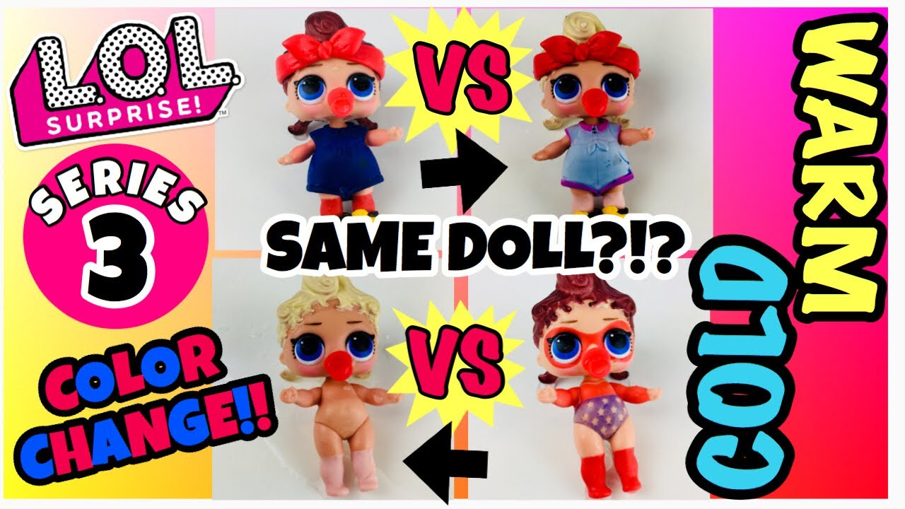 Napping LOL Surprise Series3 Dolls can do baby big sis Confetti Pop Color Change
