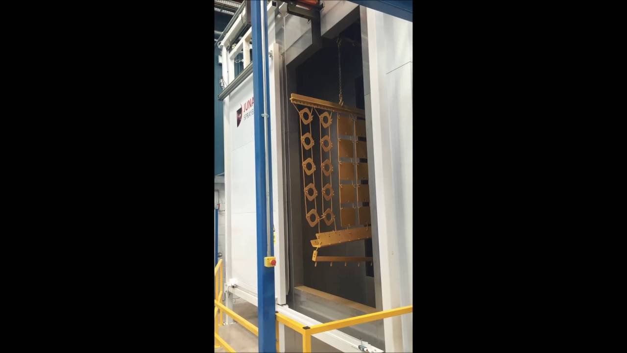 High Temperature Cure Oven Sliding Door Operation