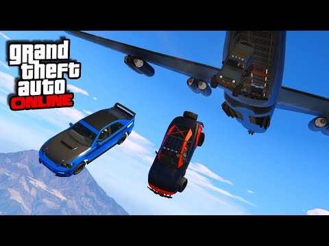 Furious 7 Plane Drop Scene! || GTA 5 Online || PC