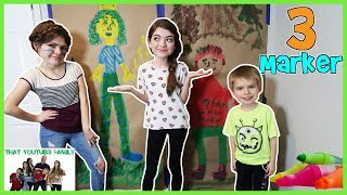 Life Size Three Marker Challenge / That YouTub3 Family