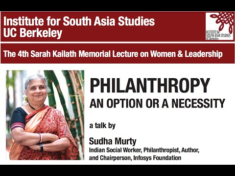 Philanthropy – An Option or a Necessity: The 4th Sarah Kailath Memorial Lecture by Sudha Murty
