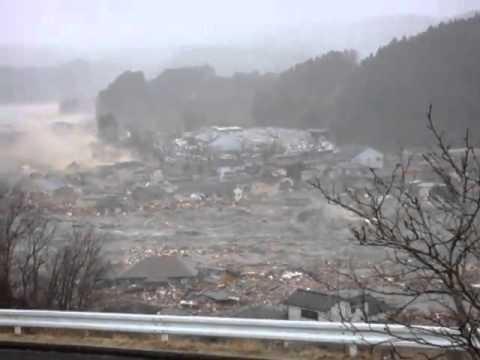 Tsunami in Minamisanriku, Iwate Prefecture, view from Shizugawa Junior High School