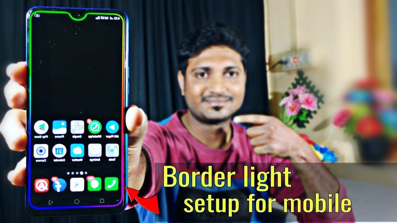How To Set Border Light on Mobile?   Set Border Light in Realme & Redmi  Mobiles   Tech Siva