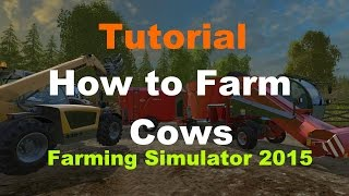 Tutorial - Farming Simulator 2015 - How to Farm Cows