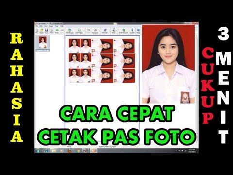 CARA CEPAT CETAK PAS PHOTO - 3 MENIT JADI