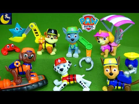 LOTS of Paw Patrol Toys Sea Patrol Lifeguard Pup Figures Sub Sea Patroller Mission Paw Cruiser Toys
