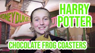 HARRY POTTER DIY   HOW TO MAKE CHOCOLATE FROG COASTERS