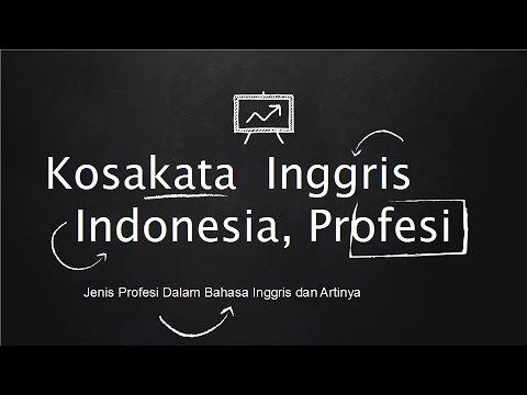 Kosakata Jenis Pekerjaan Dalam Bahasa Inggris Pelafalan Dan Artinya Occupation Youtube