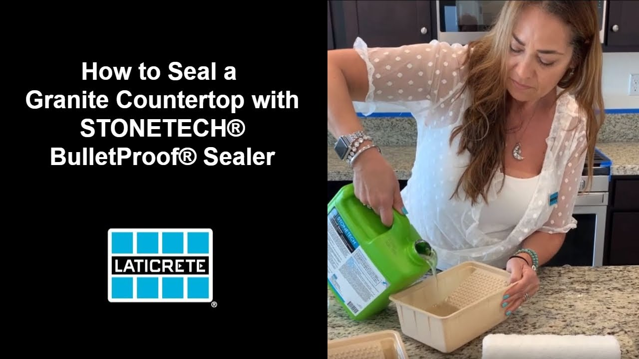 how to seal a granite countertop with stonetech bulletproof sealer