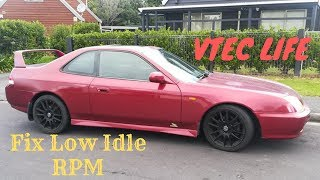 How To Fix Low Idle RPM Honda Prelude, Clean Throttle Body and Idle Air Control Valve