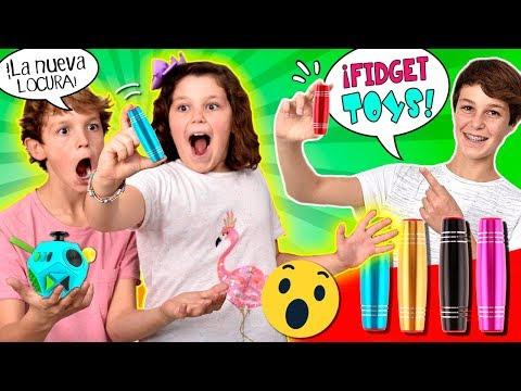 ¡El nuevo FIDGET de moda! 😱¡¡10+3 Trucos y RETOS con FIDGET STICKS!! ¿Cuántos tipos de FIDGET hay?
