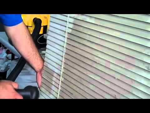 Cleaning (filthy) Aluminum Horizontal Blinds