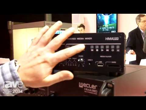 ISE 2014: Ecler Introduces It's HMA-120 Self-Powered Audio Mixer and Integrated Media Player