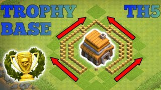 Clash Of Clans | CRAB CLAW ANTI 2 STAR | TH5 TROPHY BASE | Clash Of Clans BASE BUILD CoC