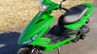 150cc Spiral Boom Scooter For Sale Detail Walk Around