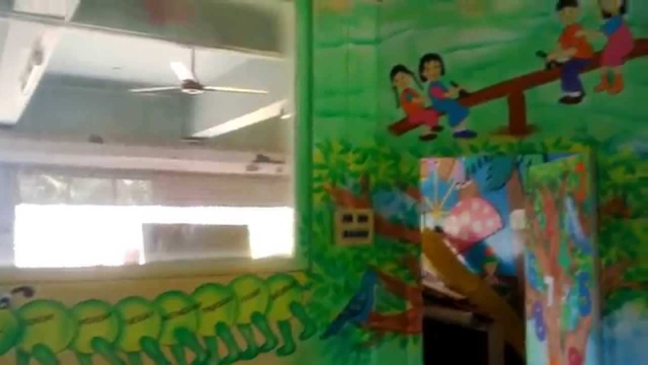 Classroom Decoration Ideas For Pre Primary School : Pre school play school classroom wall theme painting mumbai youtube