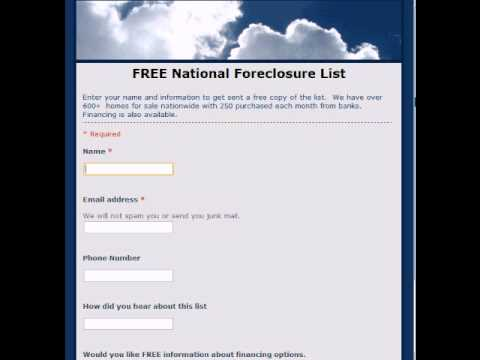 How to Get a FREE National Foreclosure Property List.