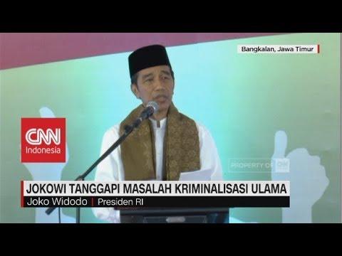 Jokowi Tanggapi Masalah Kriminalisasi Ulama