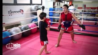 Muay Thai Frankfurt / Thaiboxen Kindertraining Connor Pfeil