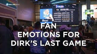 Dirk Nowitzki's last game brings emotions for locals at watch party