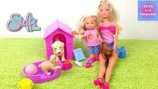 Кукла Штеффи уход за собачками  Играем в дочки матери