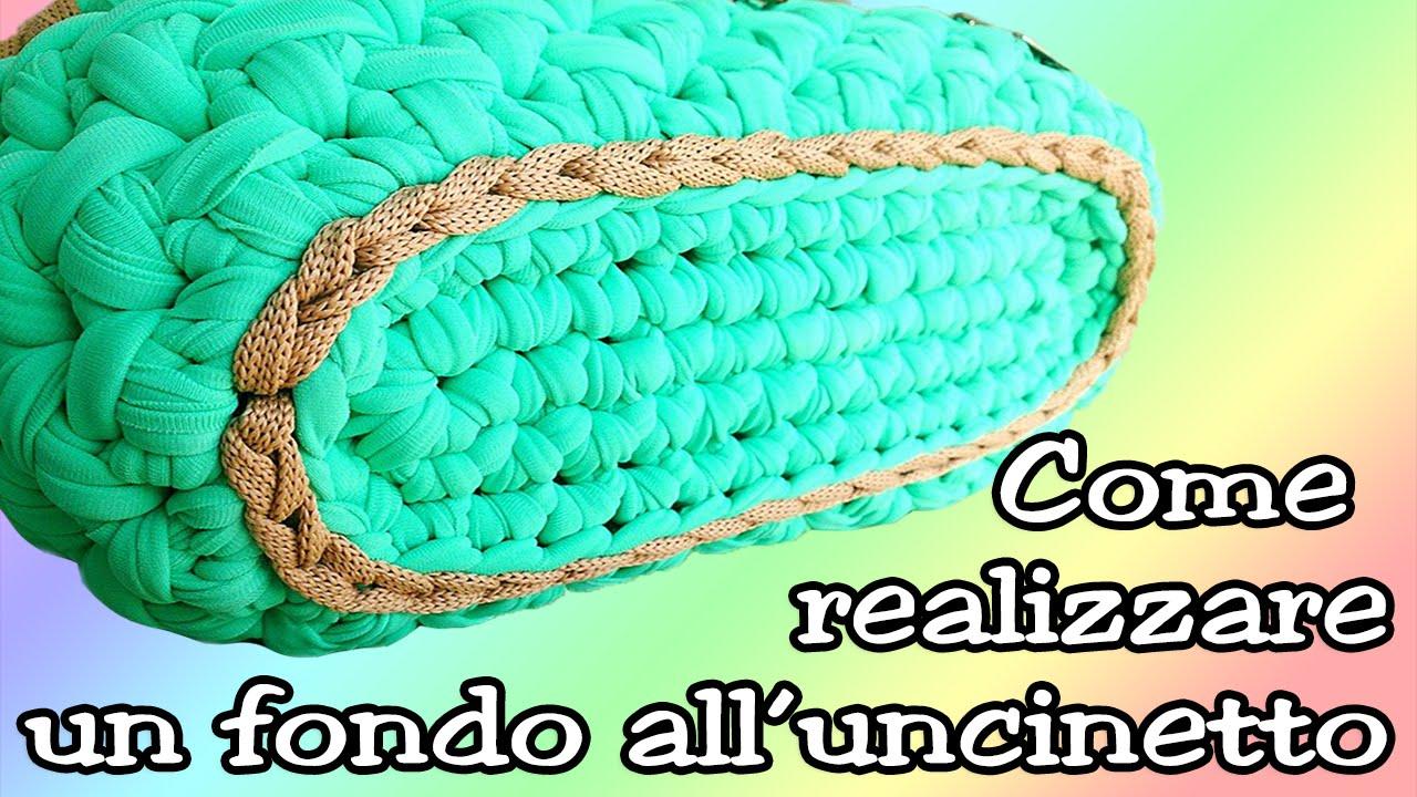 Base Ovale In Fettuccia Per Borse Oval Base For Crochet Bag