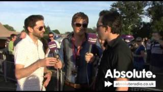 Keane interview at V Festival 2009 on Absolute Radio