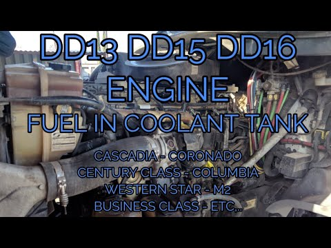 FREIGHTLINER CASCADIA DD13 DD15 DD16 FUEL IN COOLANT TANK BAD INJECTOR  SLEEVE SEAL OM 472