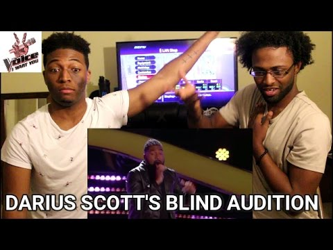 """The Voice 2015 Blind Audition - Darius Scott: """"You Make Me Wanna (REACTION)"""