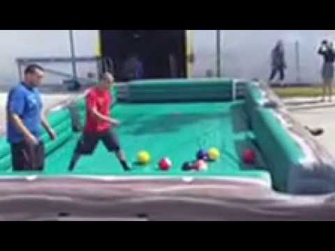 Human Billiards Pool Table Game YouTube - Human pool table
