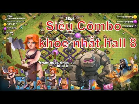 NMT   Clash Of Clans   Đừng Quên Valkyrie Là Combo Mạnh Nhất Hall 8